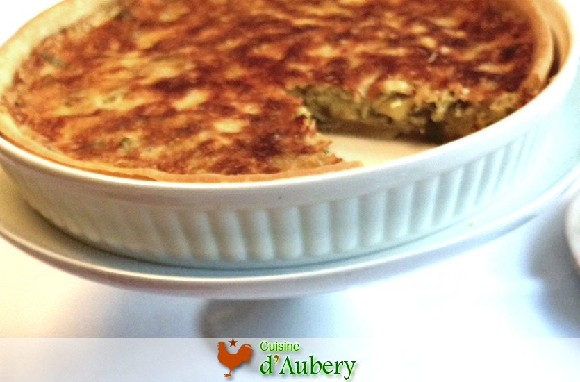 "Julia Child's Leek Quiche  (""flamiche"")"
