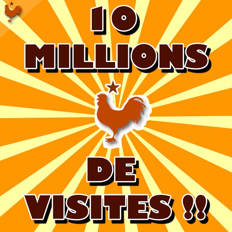 10 Millions de vues, merci à tous les lecteurs !