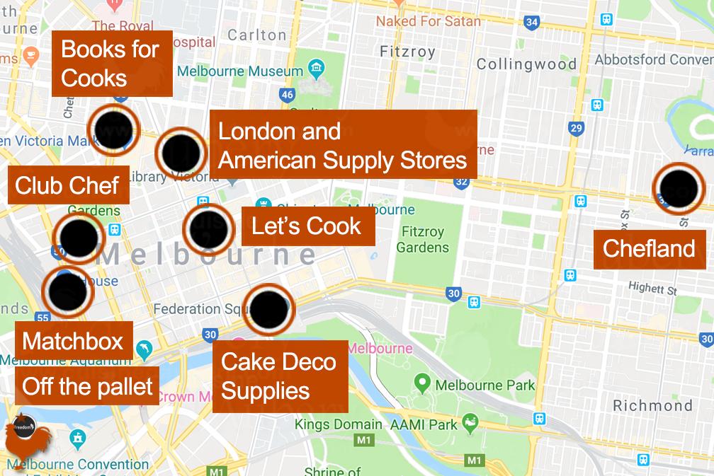 Magasins de Cuisine et Pâtisserie à Melbourne