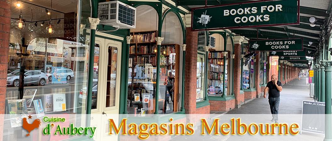 Les Magasins de Cuisine et Pâtisserie à Melbourne (Australie) (Matériel et ustensiles)