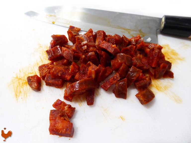 Pâtes Farfalle aux Fêves et Chorizo