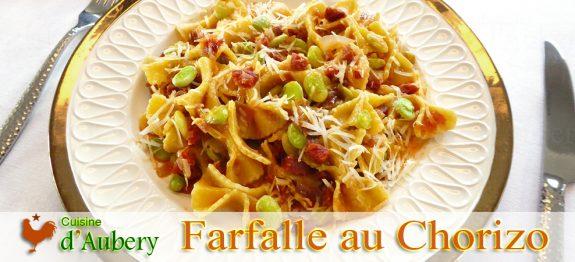 Les Pâtes Farfalle aux Fêves et Chorizo de Marc Vetri