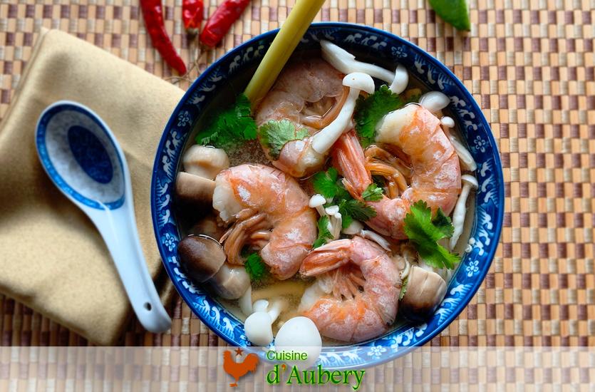 La Soupe Thaï aigre-doux aux Crevettes (Tom Yam Goong)