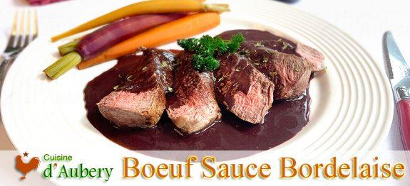 Le Boeuf Sauce Bordelaise de Paul Bocuse, et carottes à l'étouffée Escoffier