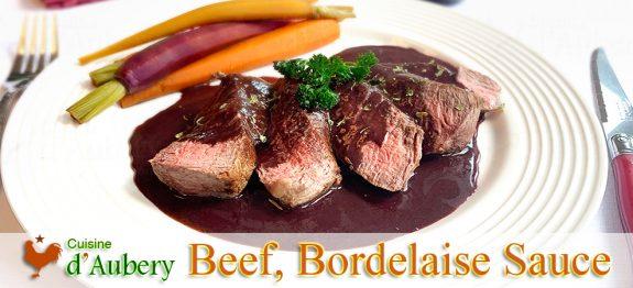 Beef Tenderloin with Bordelaise Sauce, Escoffier styled etouffée Carrots