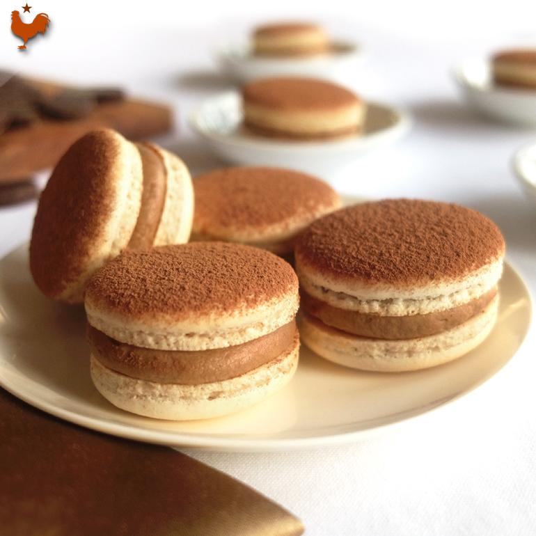 Les Macarons au Tiramisu (comme en Floride à Orlando) (recette de M.O.F)