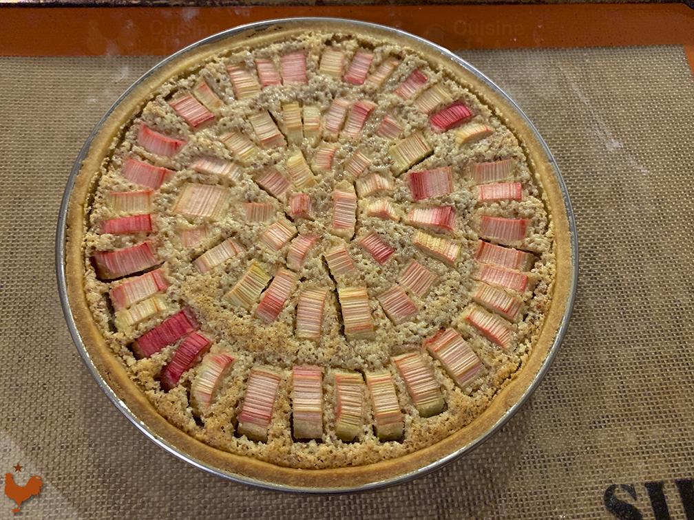 Rhubarb Strawberry Tart
