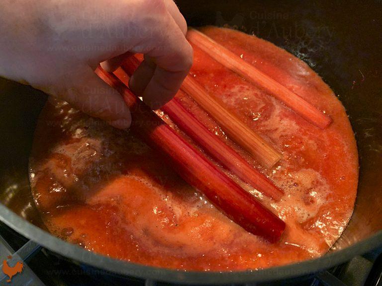 Tarte Rhubarbe et Fraises