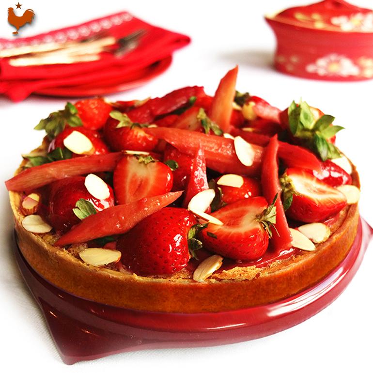 Claire Heitzler's Rhubarb Strawberry Tart