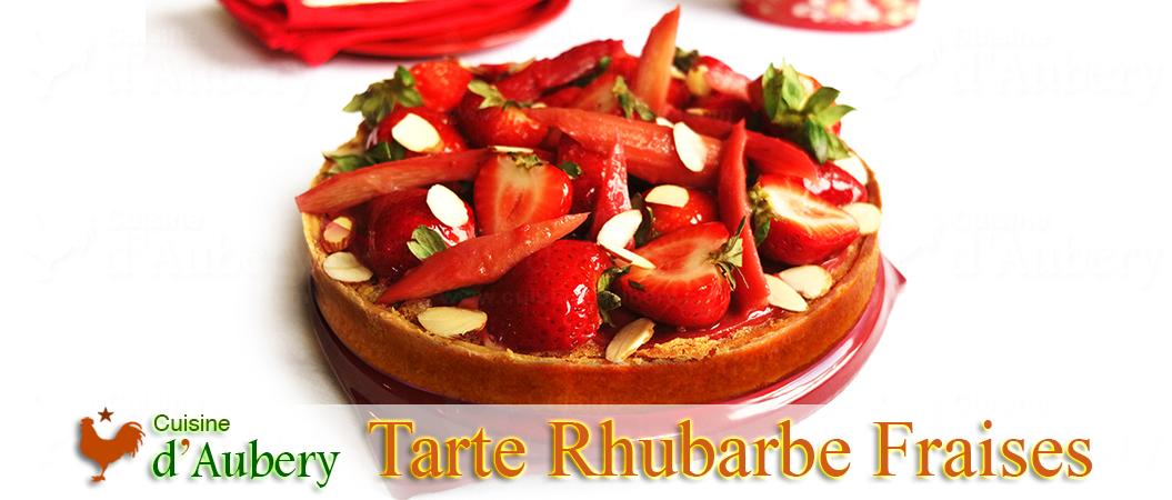 La Tarte Rhubarbe et Fraises de Claire Heitzler