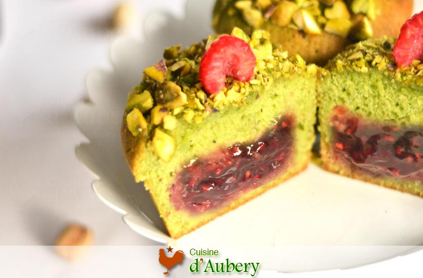 Lenôtre's Pistachio Raspberry Cakes