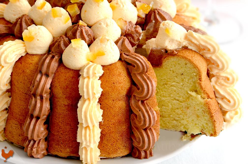 Gâteau de Savoie à l'Orange Chocolat