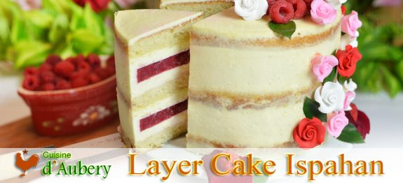 Le Layer Cake Ispahan (Rose Framboise)