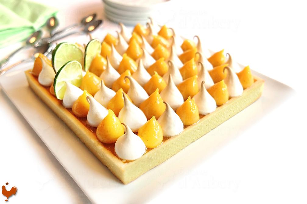 Tarte Meringuée Mangue Citron Vert