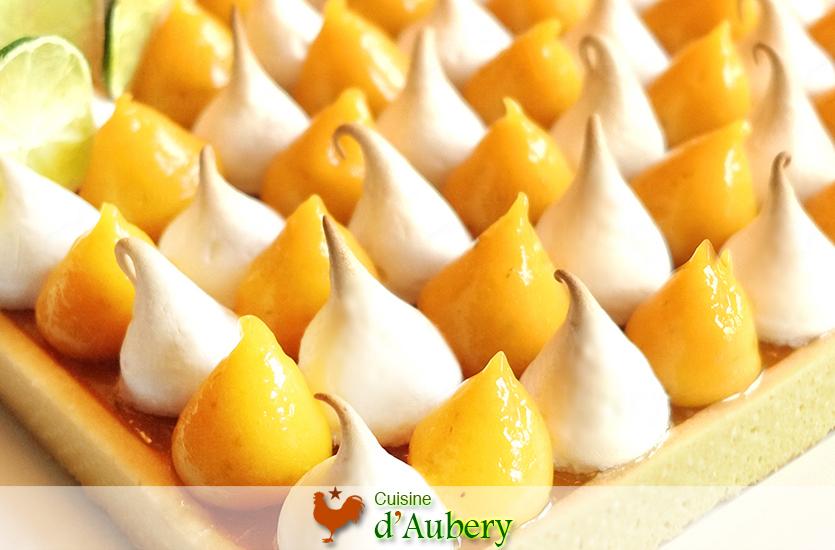 La Tarte Meringuée Mangue Citron Vert (dans le style de Thierry Bamas)