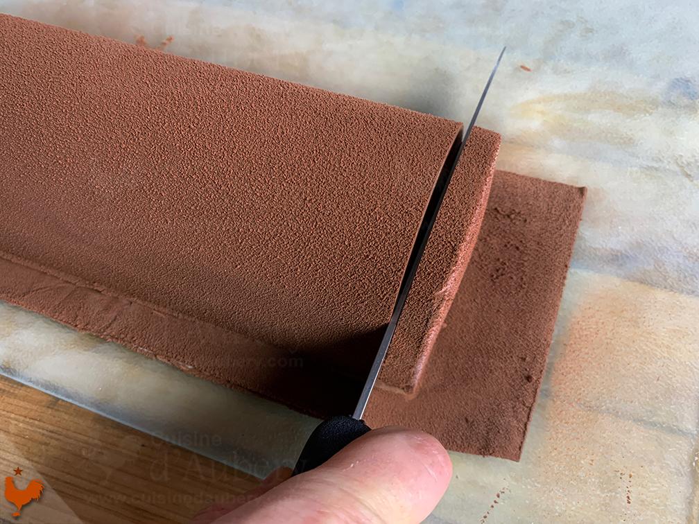 Bûche Poire Chocolat Praliné