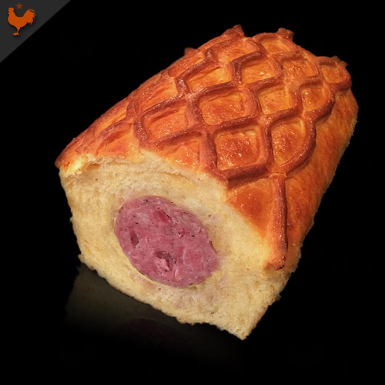 "Lyonnaise Sausage in Brioche (""Saucisson Brioché"")"