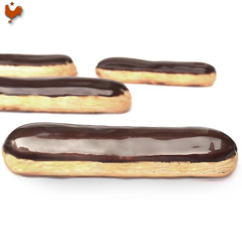 Les délicieux Éclairs Chocolat au crémeux de Christophe Adam