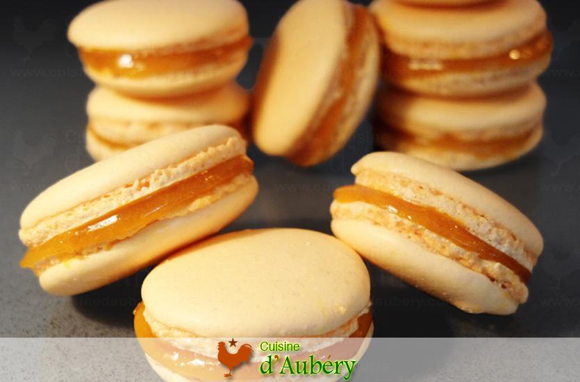 Les délicieux Macarons Mangue Passion de M.O.F Stéphane Tréand