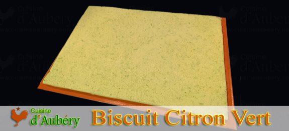 Le Biscuit Citron Vert Allégé de M.O.F J-M Perruchon