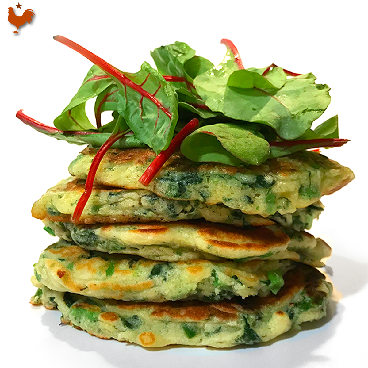 Yotam Ottolenghi's Savory Green Pancakes with Lime Butter