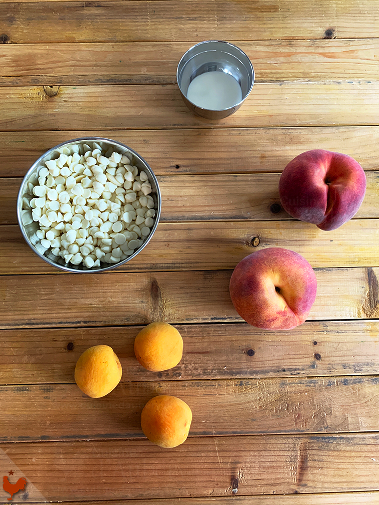 Peach Apricot Saffron Macarons