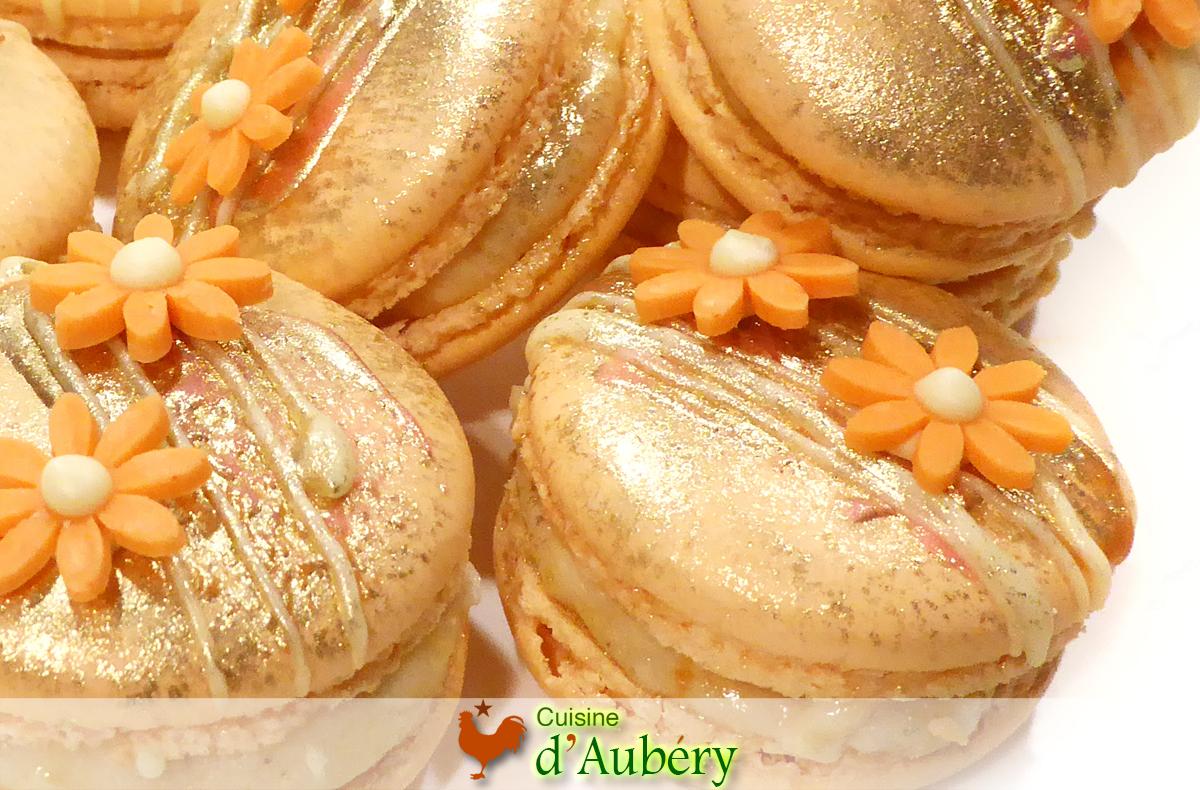 Pierre Hermé's Peach Apricot Macarons