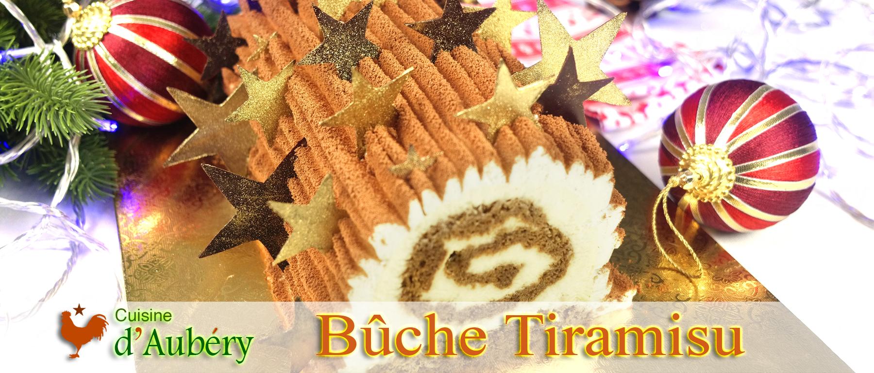 La Bûche Tiramisu (étincelante et savoureuse)
