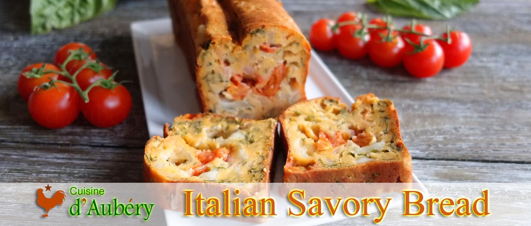 Vincenzo's Italian Savory Bread (Tomato Basil Mozzarella) (like in Venice)