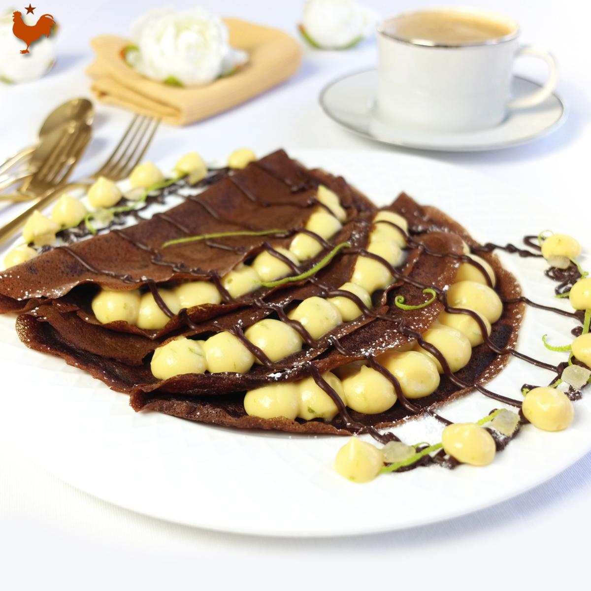 Les Crêpes au Chocolat, Sauce Citron Vert de Christophe Felder