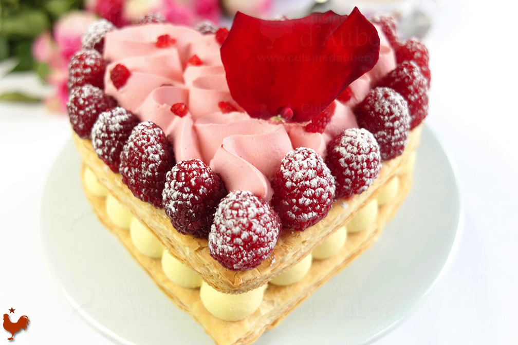 Coeur Millefeuille Framboise