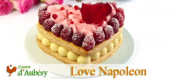 The Love Napoleon Cake (millefeuille), by Stéphane Glacier