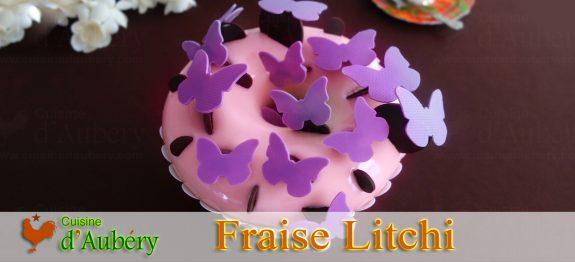L'Entremets Fraise Litchi (Glossy) de Johan Martin