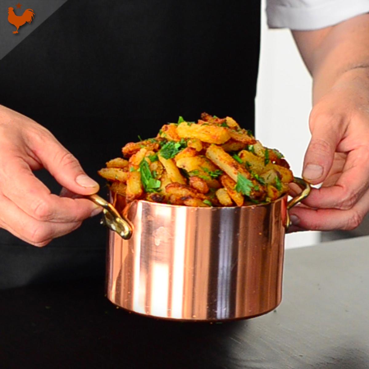 Les frites allégées et croustillantes au four de Pierre Marchesseau