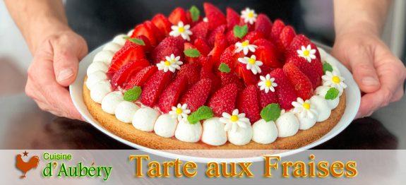 La Tarte aux Fraises sur sablé breton et crème mascarpone vanille