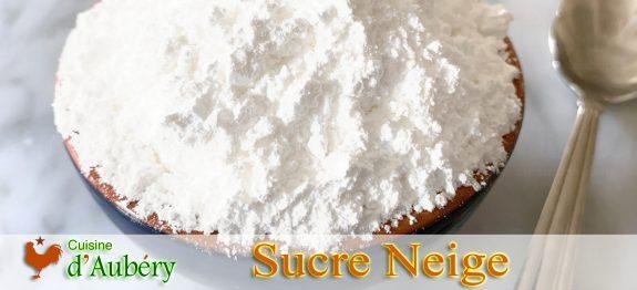 Le Sucre Neige Amylacé ('amidonné'), sucre glace qui ne fond pas, de Christophe Michalak