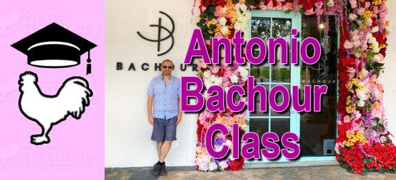 In pastry class with Antonio Bachour (Valrhona class, Miami)