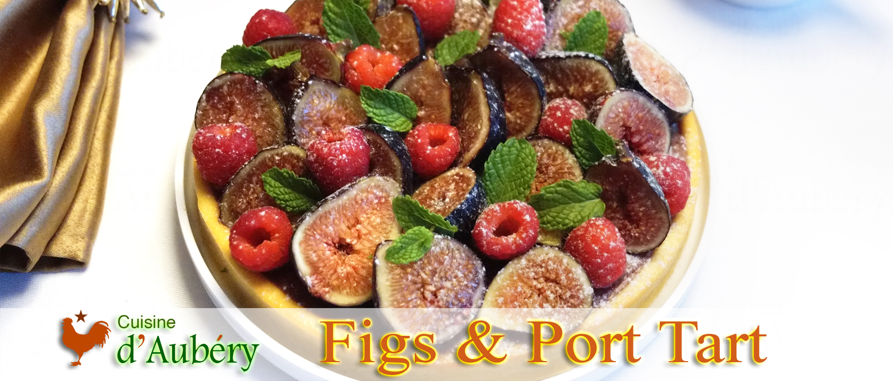 Pierre Hermé's Fig, Raspberries and Port Tart